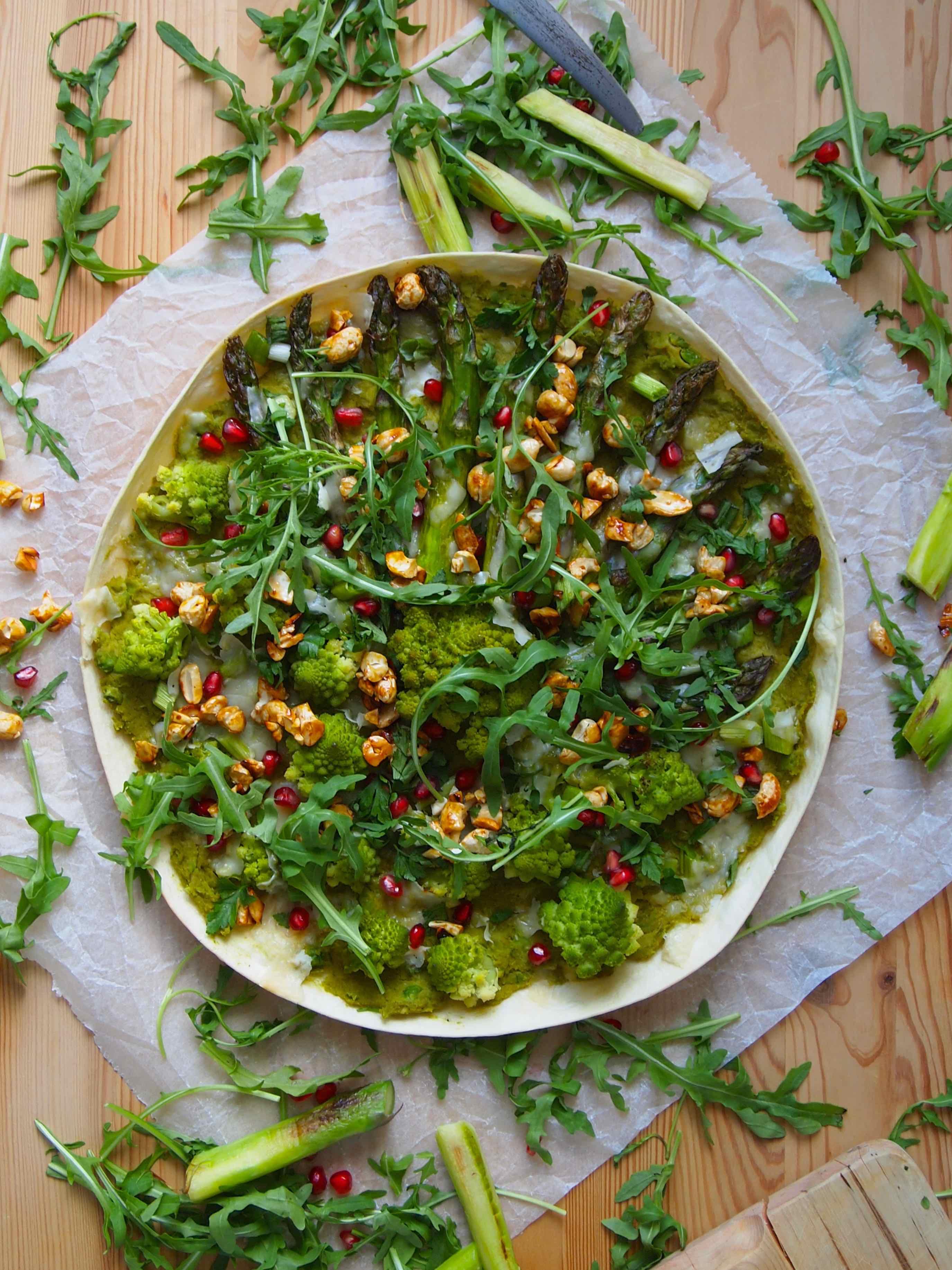 Grüner Flammkuchen