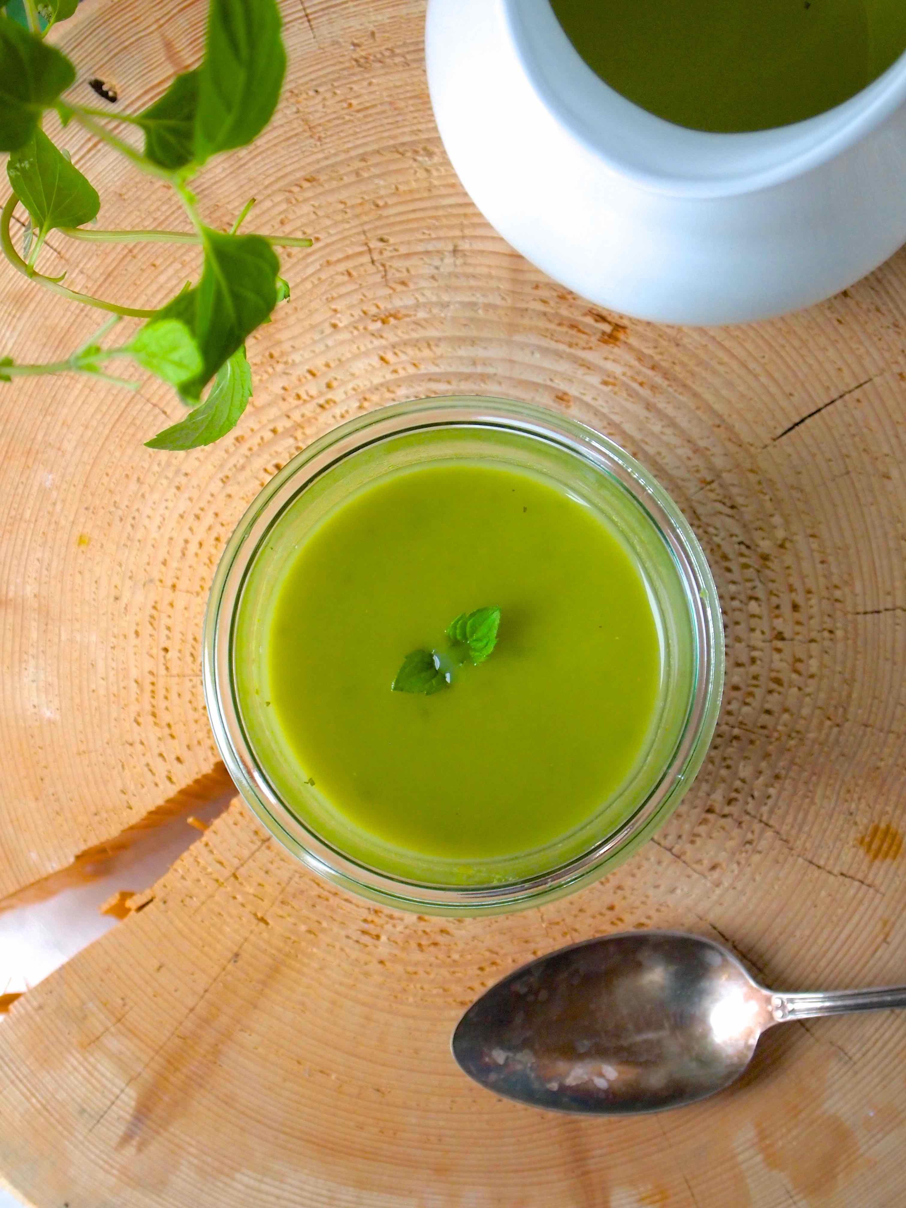 Sopa de Ervilha com Hortelã - Erbsen-Minze-Supp