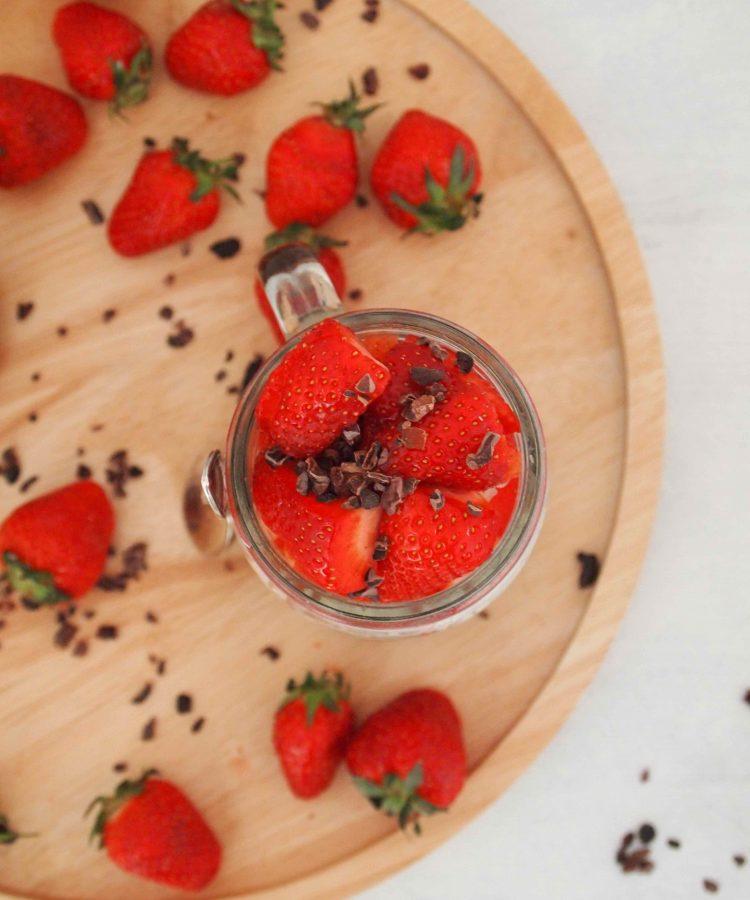 Erdbeer-Hirse-Porrdige