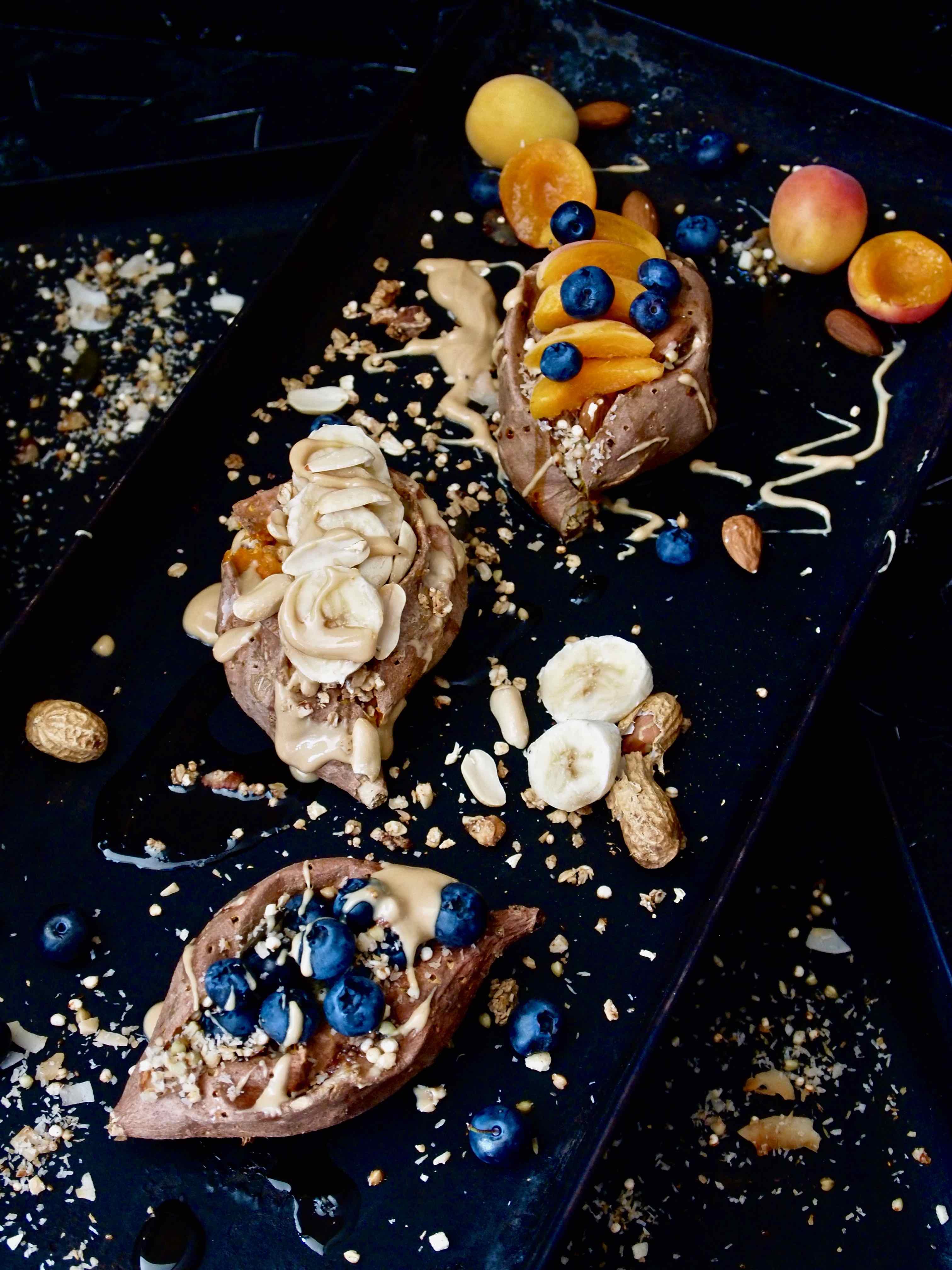 Gefüllte Süßkartoffeln