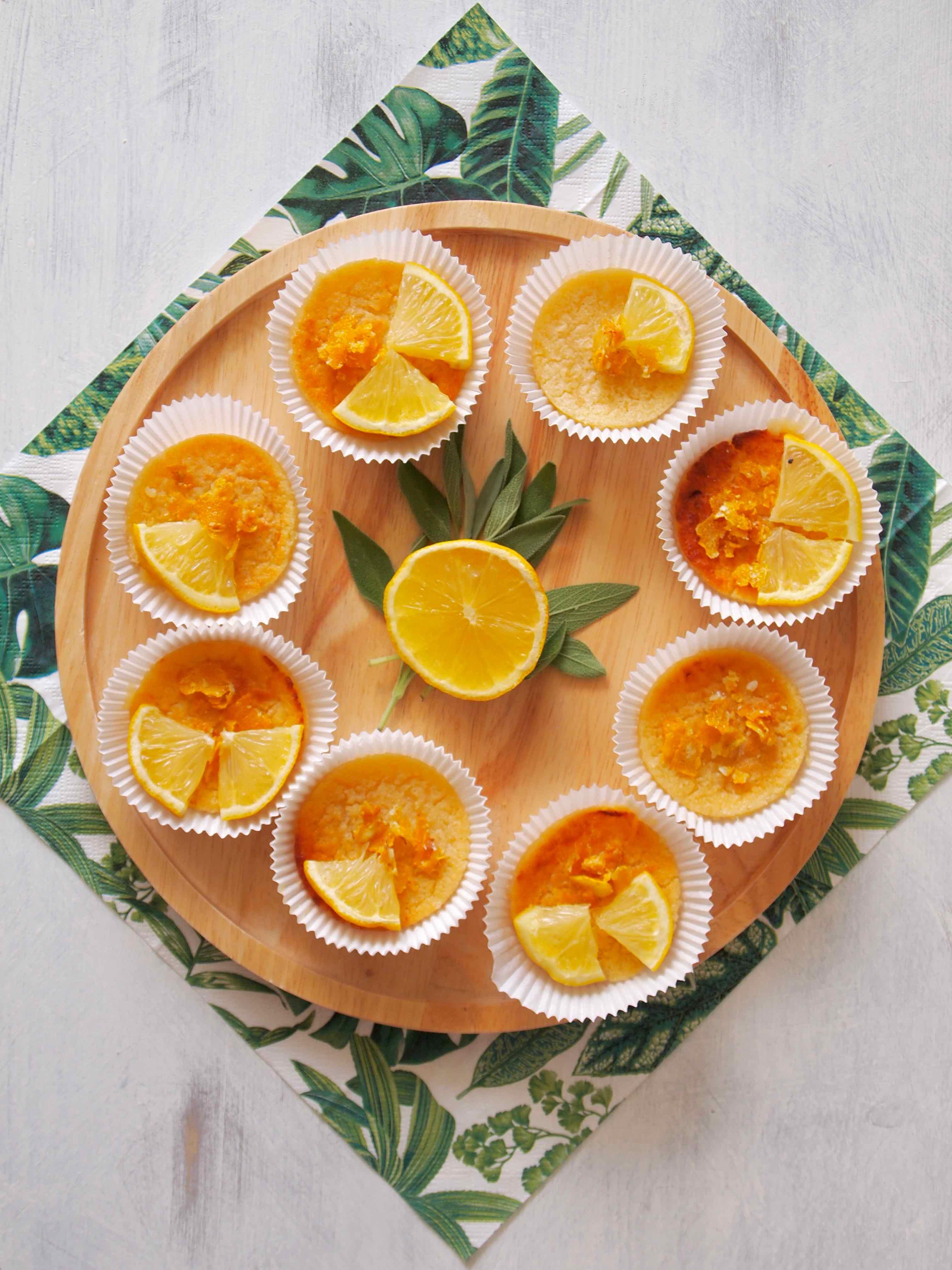 Portugiesische Zitronen-Puddingtörtchen