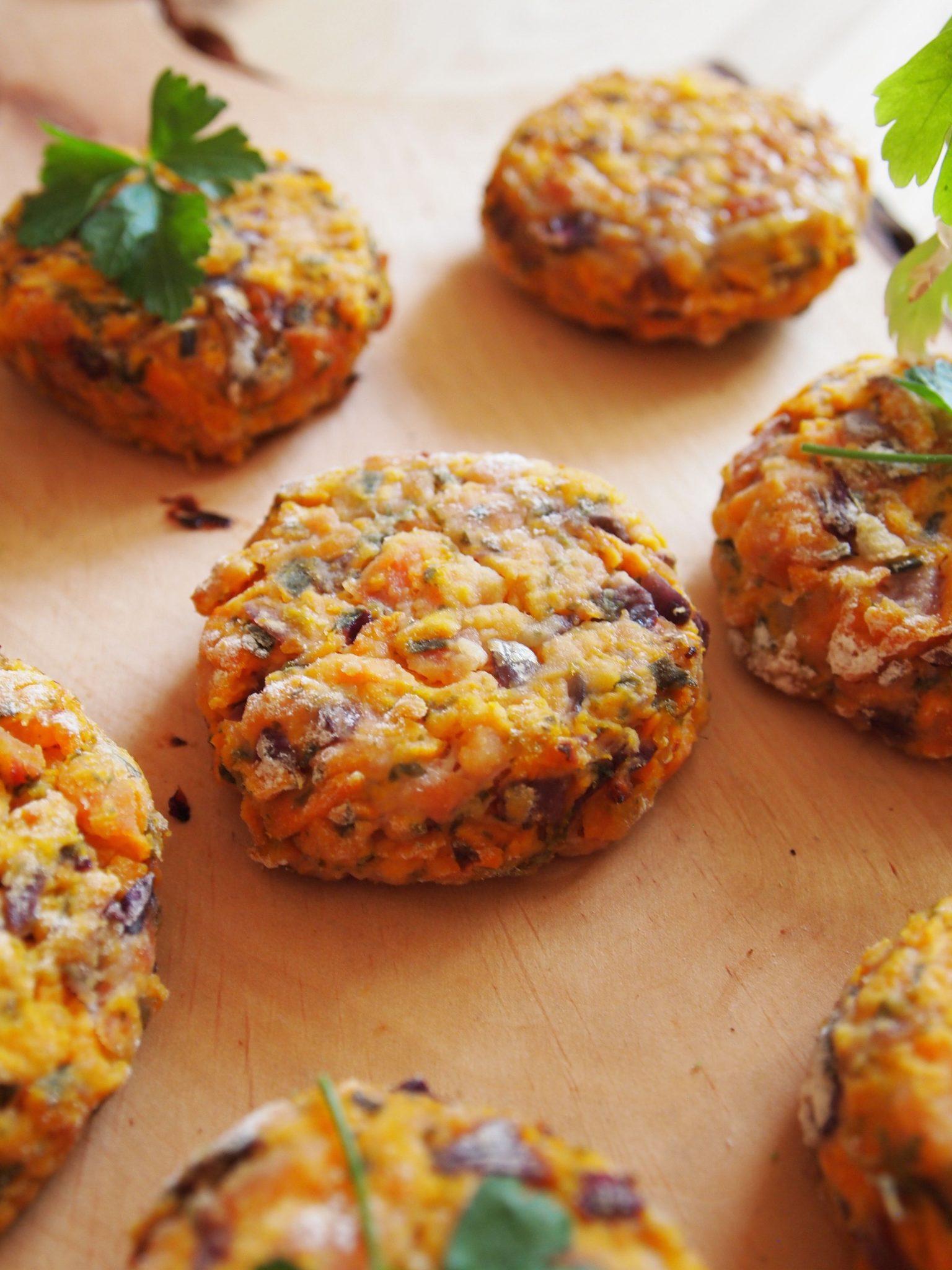 Süßkartoffel-Taler -Almofadas de batata doce