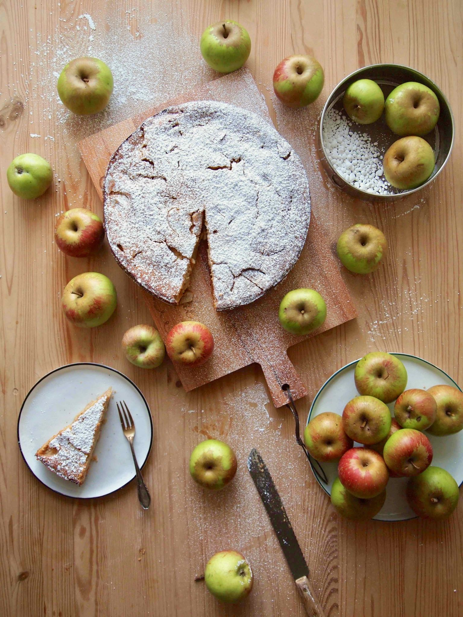 Omis Beste Kuchen Apfel Griess Kuchen Fernwehkuche
