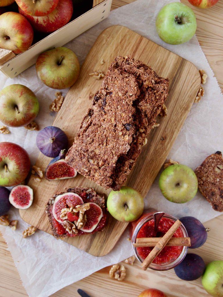 Apfelbrot, zuckerfrei und gesund