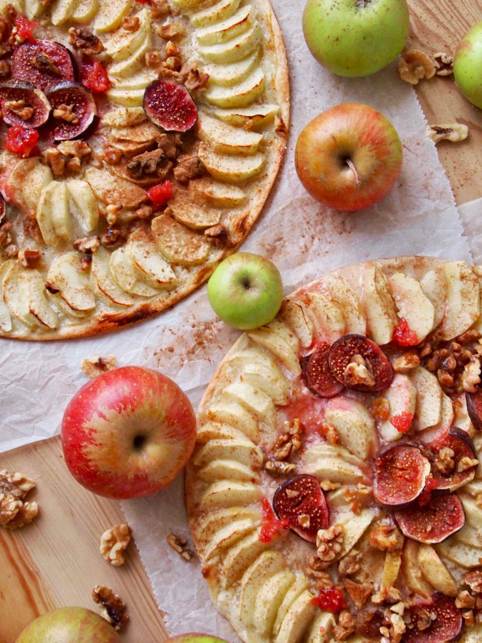 Apfel-Flammkuchen - Apfelrezepte für den Herbst