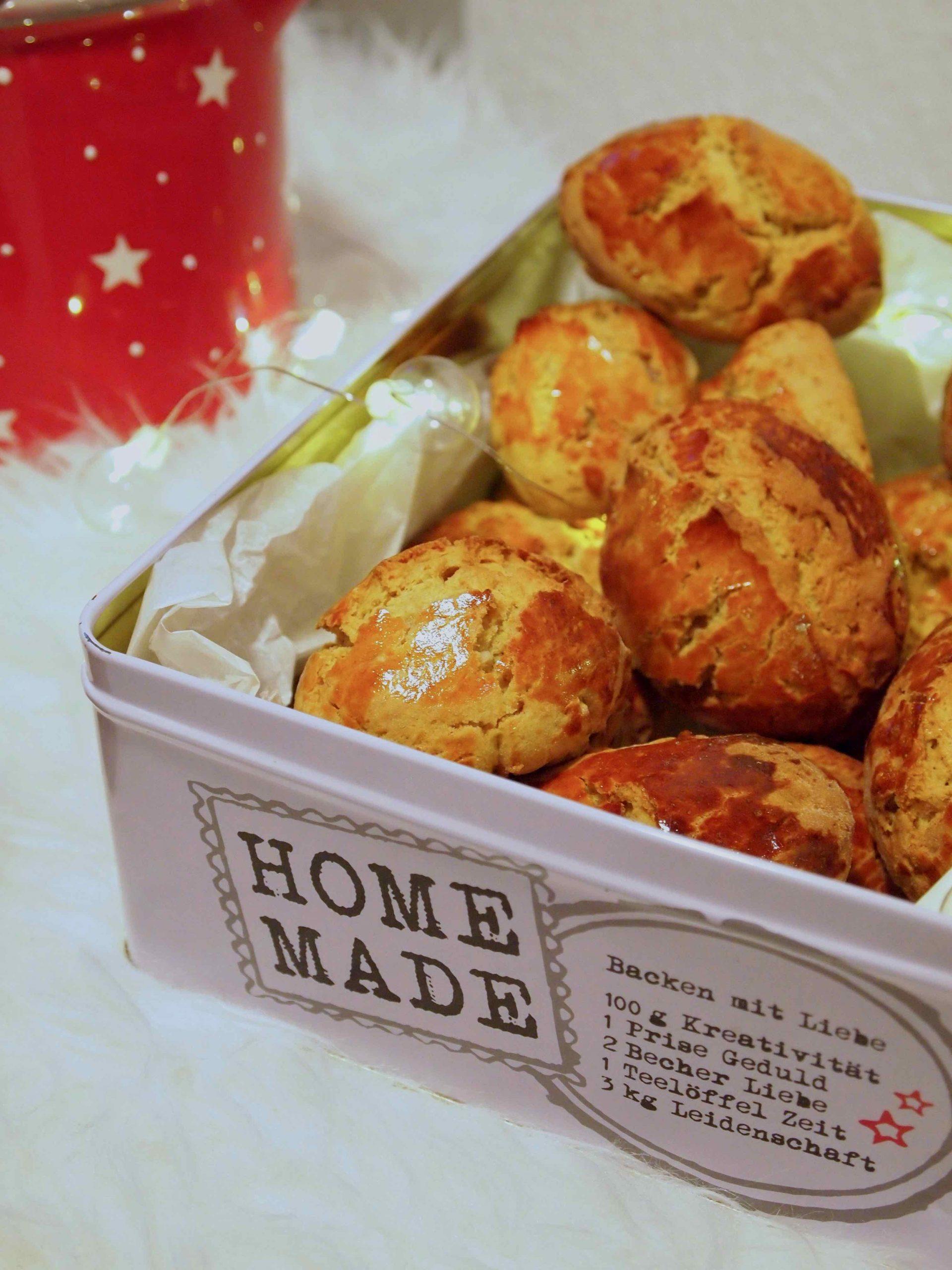 Broas com batata doce e nozes – Weihnachtliche Süßkartoffel-Nocken