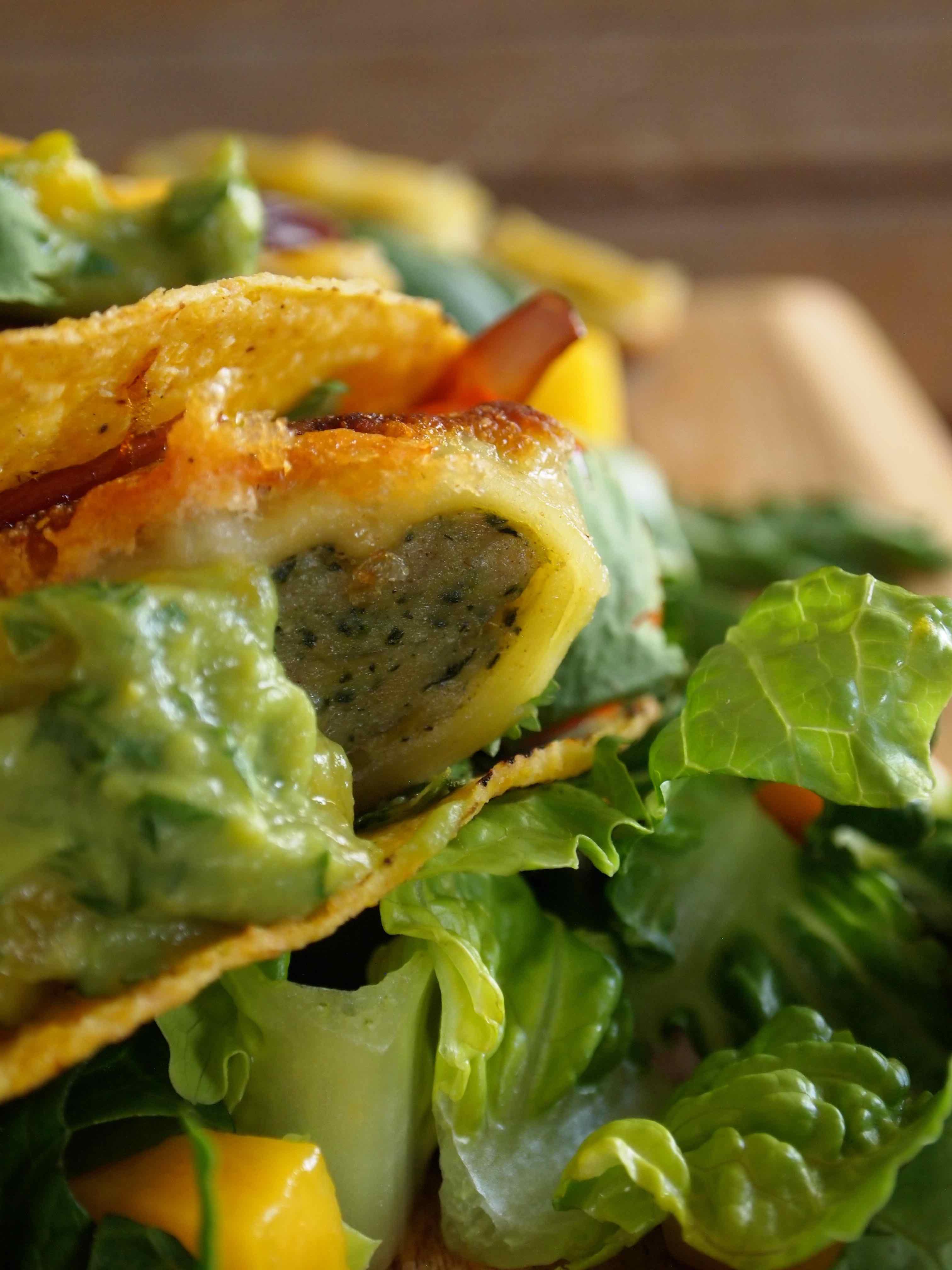 Maultaschen-Tacos mit Guacamole