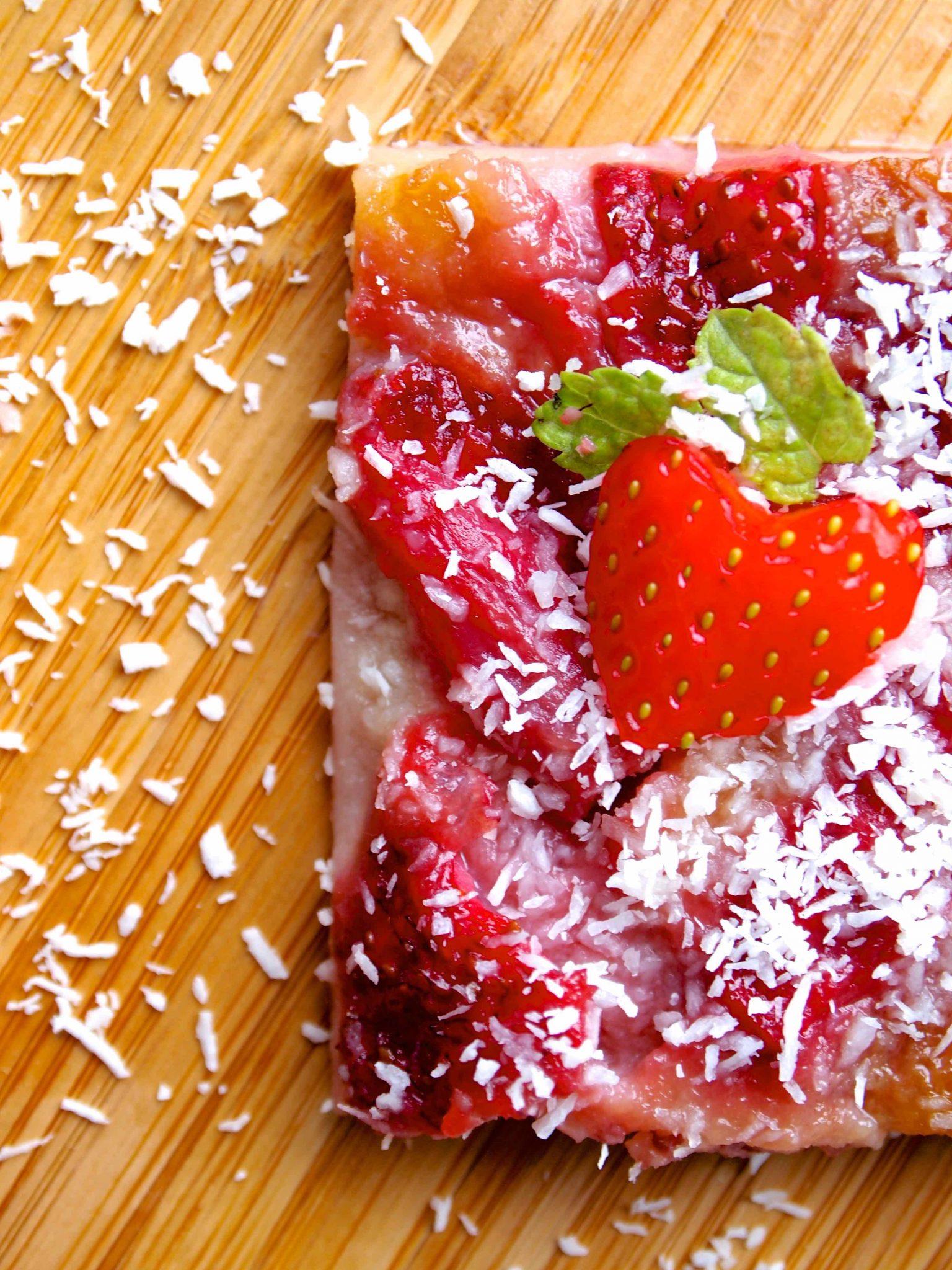 Quadrados de Morango - Erdbeerschnitten