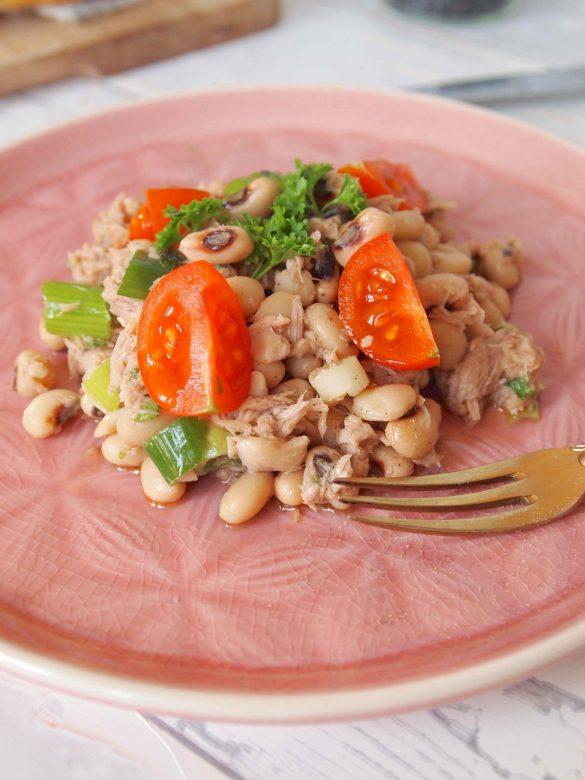 Portugiesischer Augenbohnensalat -Salada de Feijao