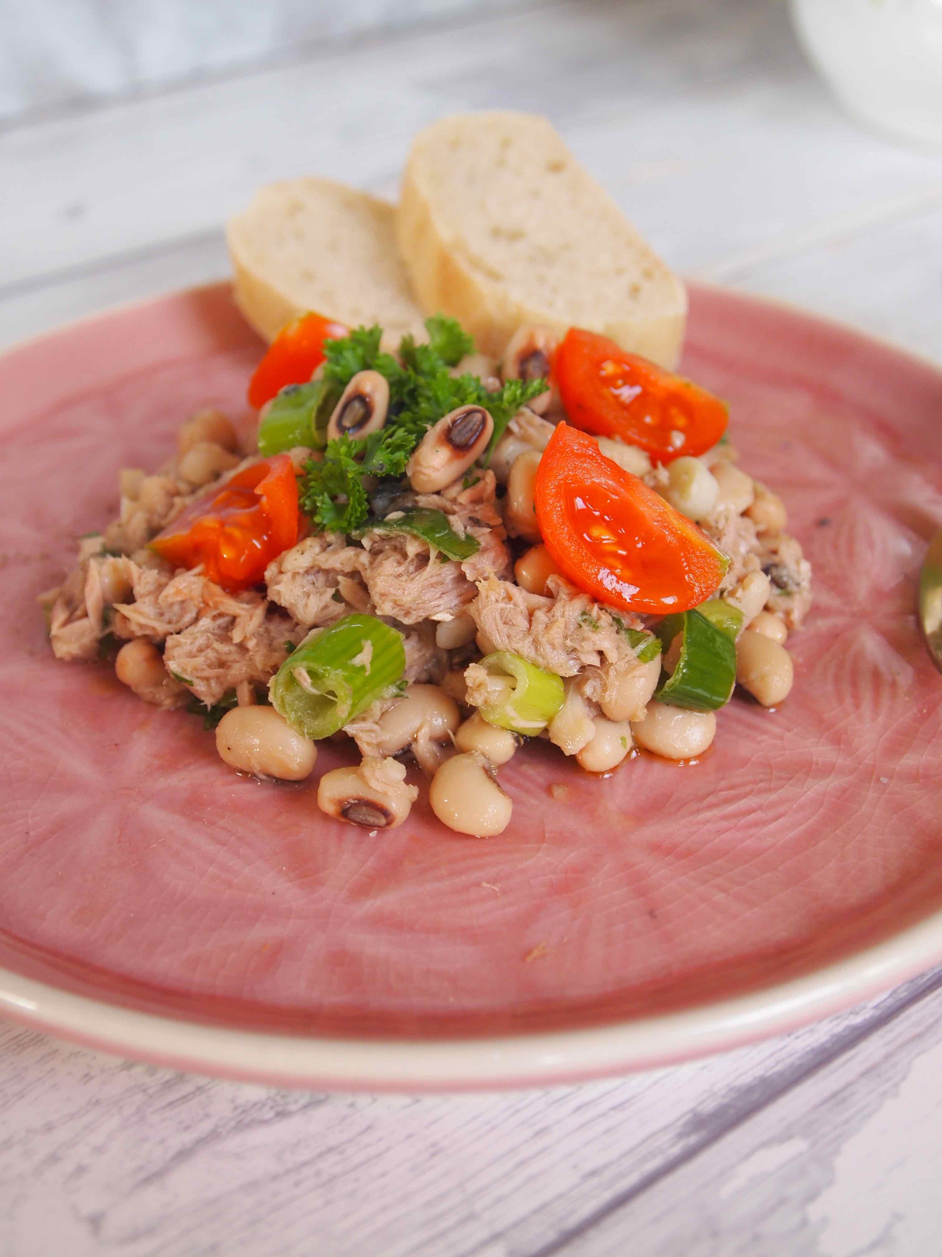 Augenbohnensalat mit Thunfisch