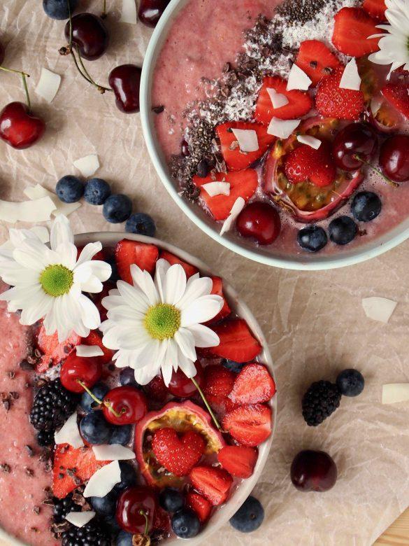 Sommer-Smoothiebowl mit Wassermelone