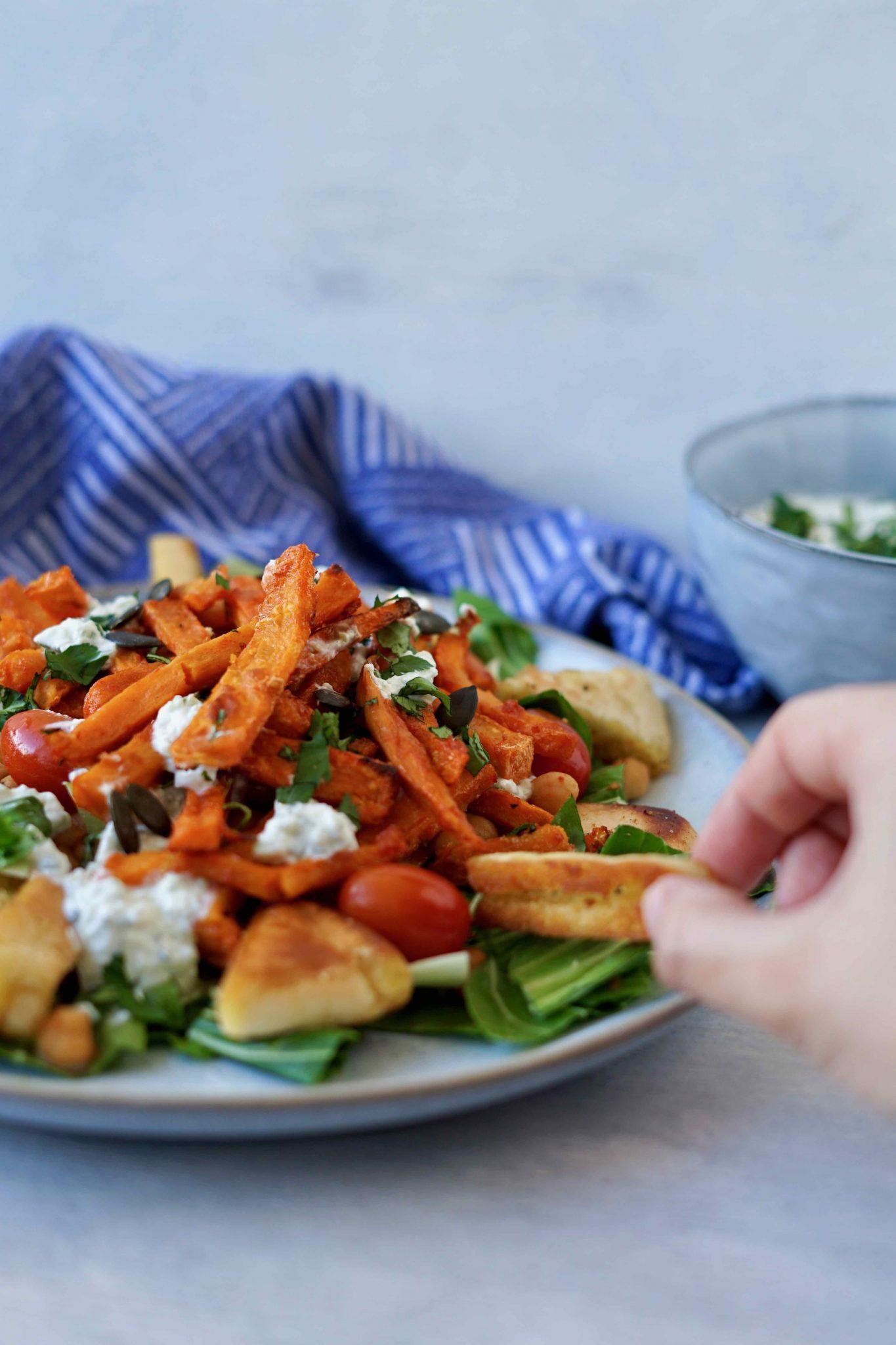Fries before guys: Süßkartoffel-Pommes Streetfood Style