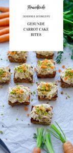 Zuckerfreie Carrot Cake Bites mit Dattel-Frischkäse-Frosting