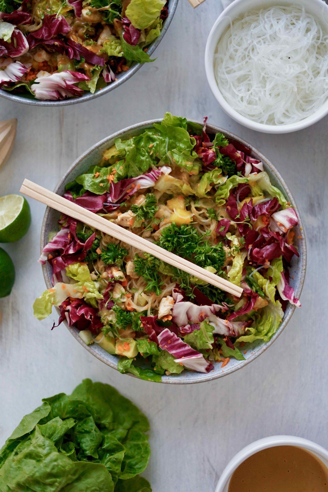 Summer Rolls Salat Bowl