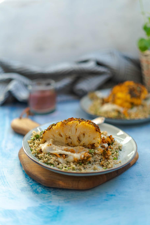 Marokkanischer Ofenblumenkohl