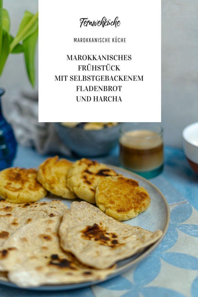 Marokkanische Fladenbrote und Harcha