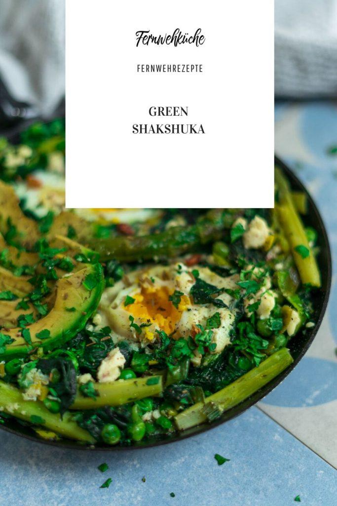 Grüne Shakshuka mit Spargel