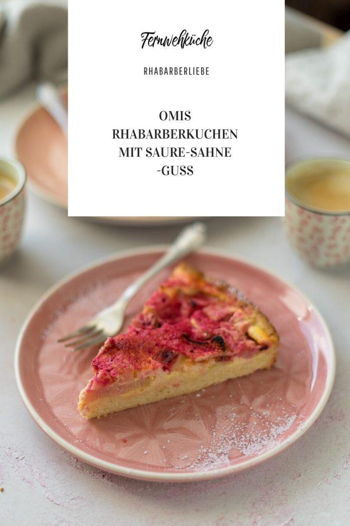 Pinterest Omis Rhabarberkuchen