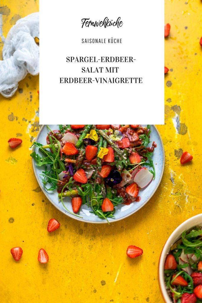 Pinterest Spargel-Erdbeer-Salat mit Erdbeer-Vinaigrette
