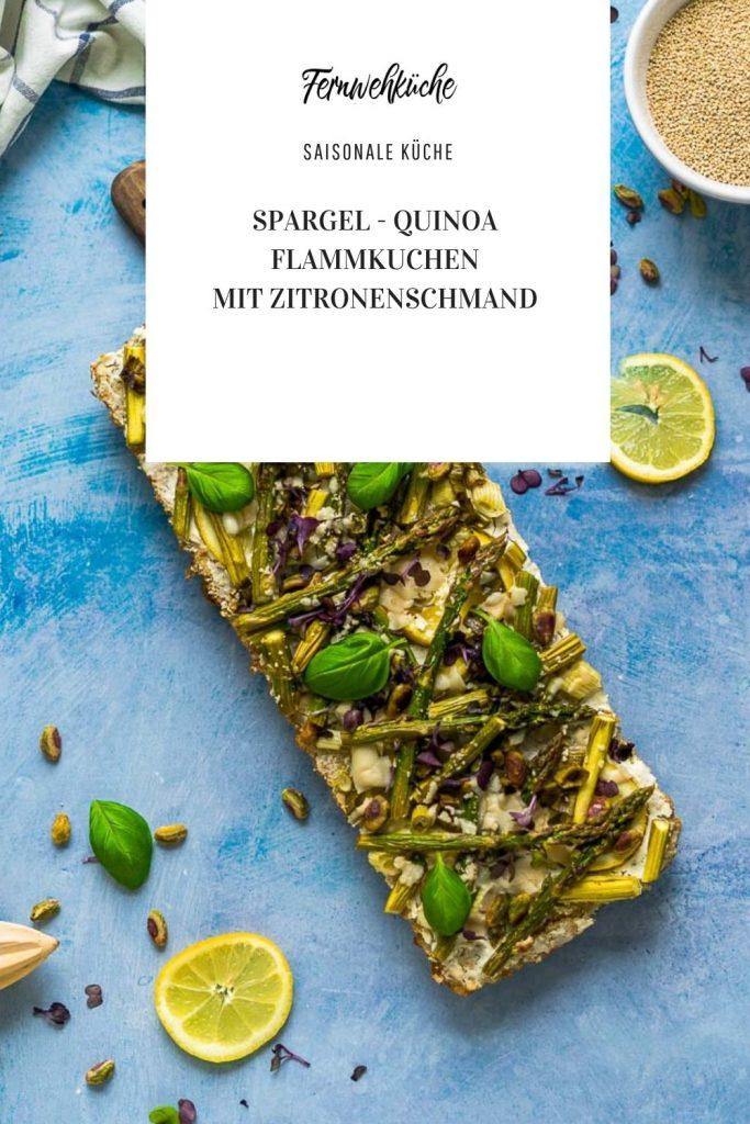 Pinterest Spargel-Quinoa-Flammkuchen