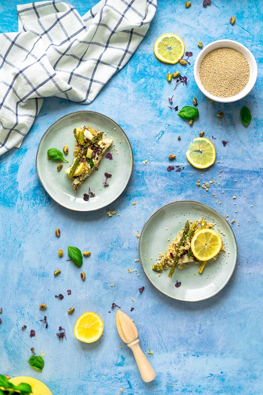 Spargel-Quinoa-Flammkuchen
