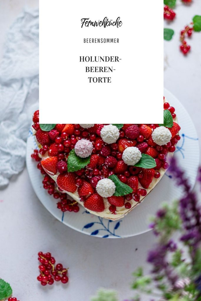 Beerige Holunder-Tonka-Torte