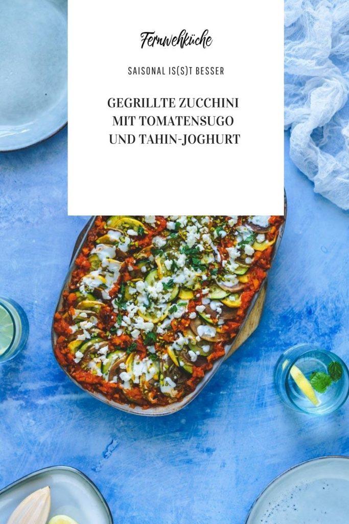 Pinterest Gegrillte Zucchini und Aubergine mit Tomatensugo