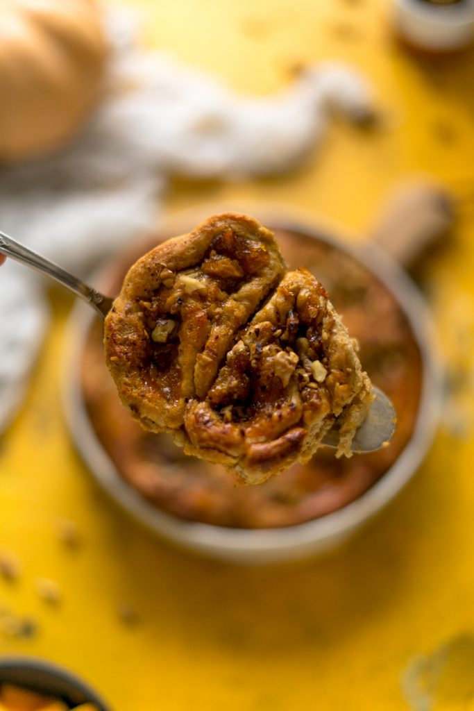 Kürbisschnecken mit Frischkäse-Frosting