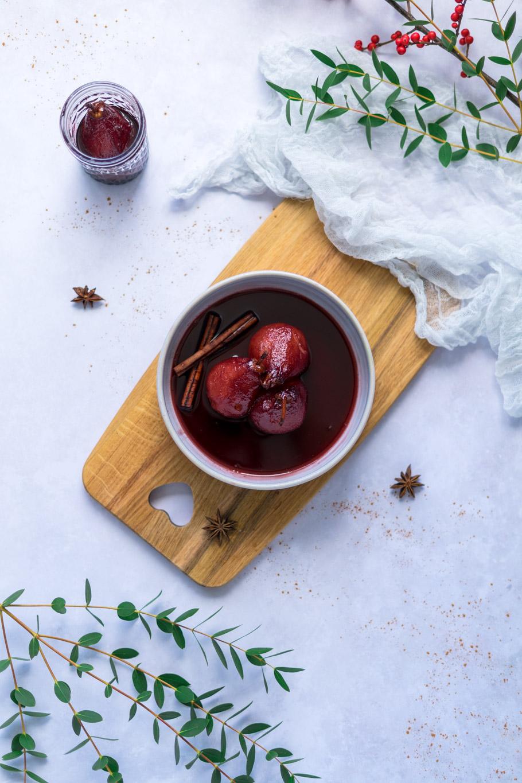 Portwein-Birnen