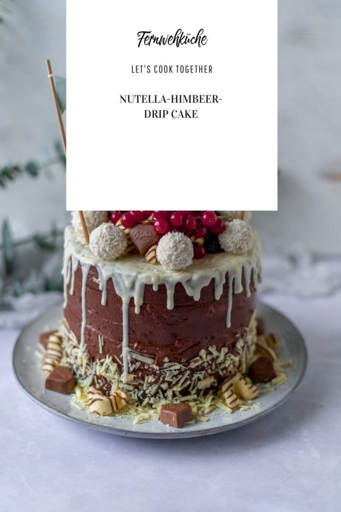 Pinterest Nutella-Himbeer-Drip Cake