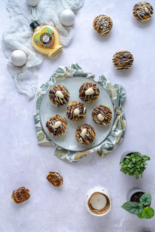 Eierlikör-Nutella-Marmor-Muffins