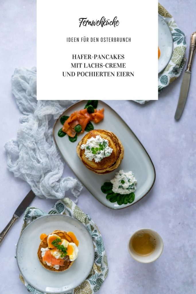 Pinterest Haferpancakes mit Lachscreme