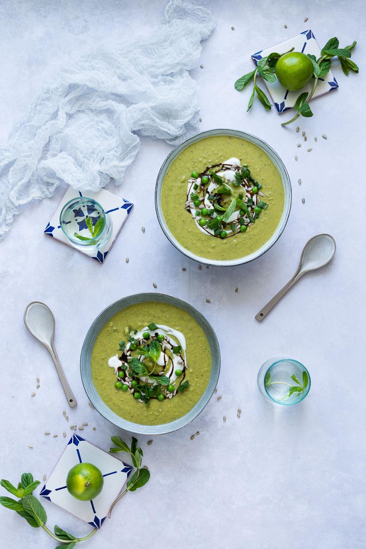 Erbsen-Minze-Suppe