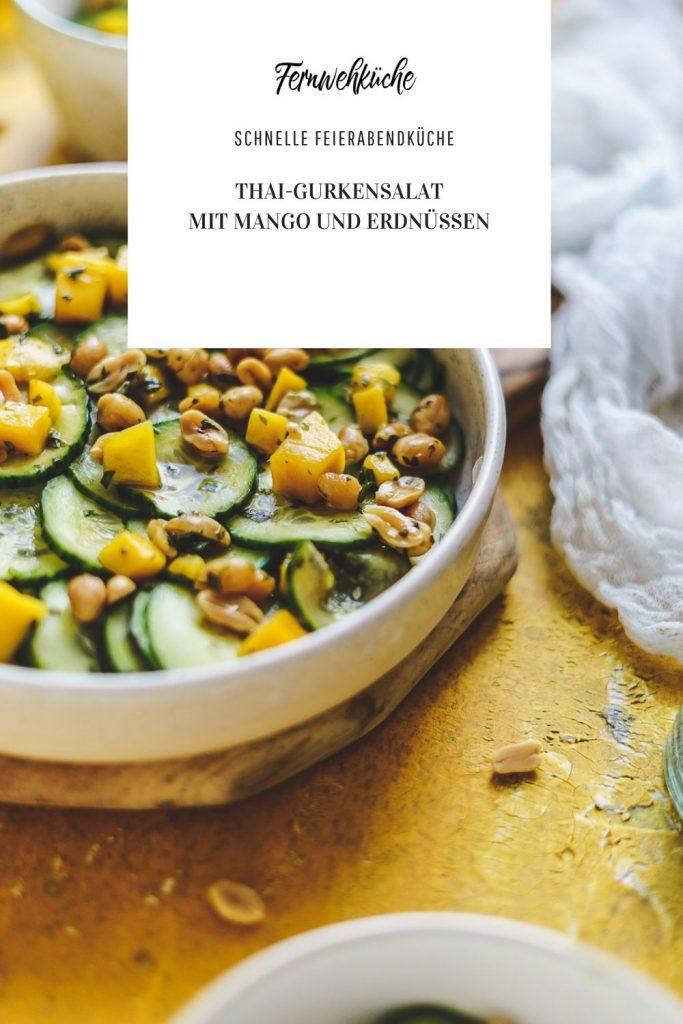 Thai-Gurkensalat mit Mango und Erdnüssen^