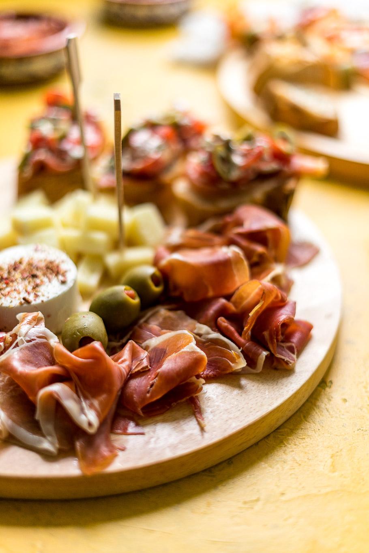 Spanische Tapas-Platte