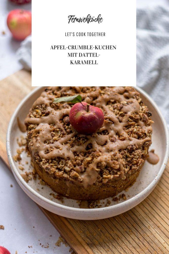 Pinterest Apfel-Crumble-Kuchen
